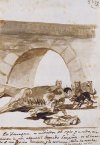 Constable Lampiños stitched into a dead horse